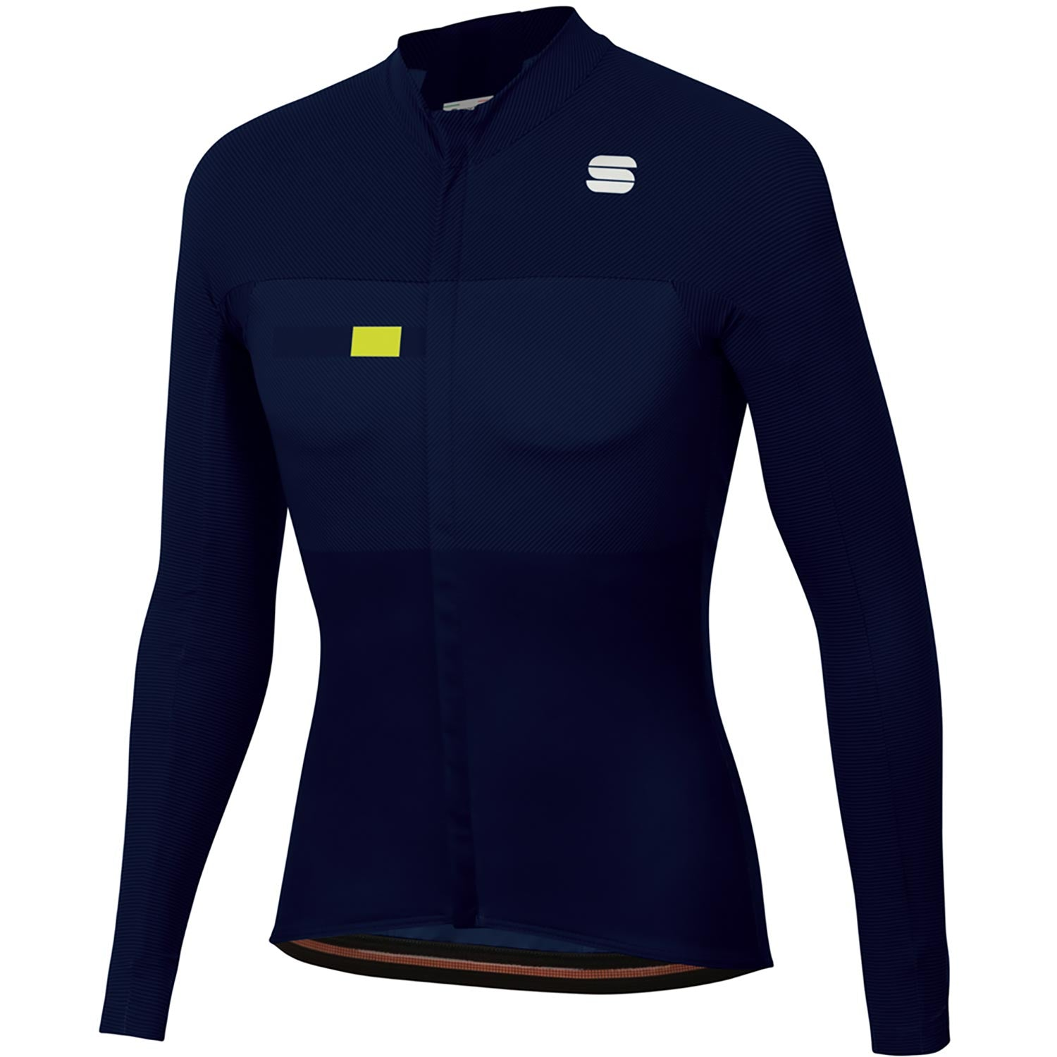 Sportful-Sportful BodyFit Pro Thermal Jersey-Blue/Yellow Fluo-S-SF205020132-saddleback-elite-performance-cycling