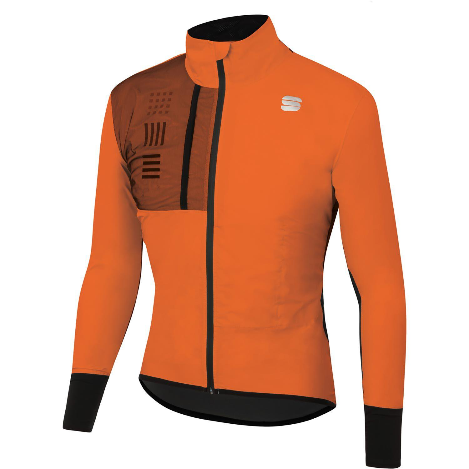 Sportful-Sportful DR Jacket-Orange SDR-S-SF205058502-saddleback-elite-performance-cycling