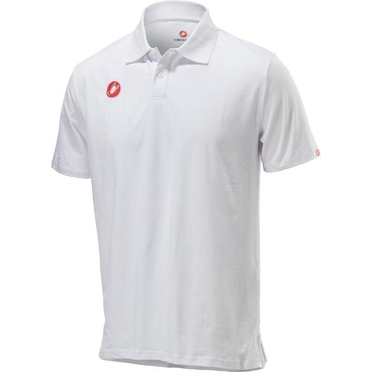 Castelli-Castelli Race Day Polo Shirt-White-XS-CS130960011-saddleback-elite-performance-cycling