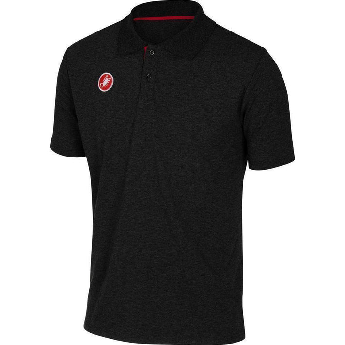 Castelli-Castelli Race Day Polo Shirt-Black-XS-CS130960101-saddleback-elite-performance-cycling