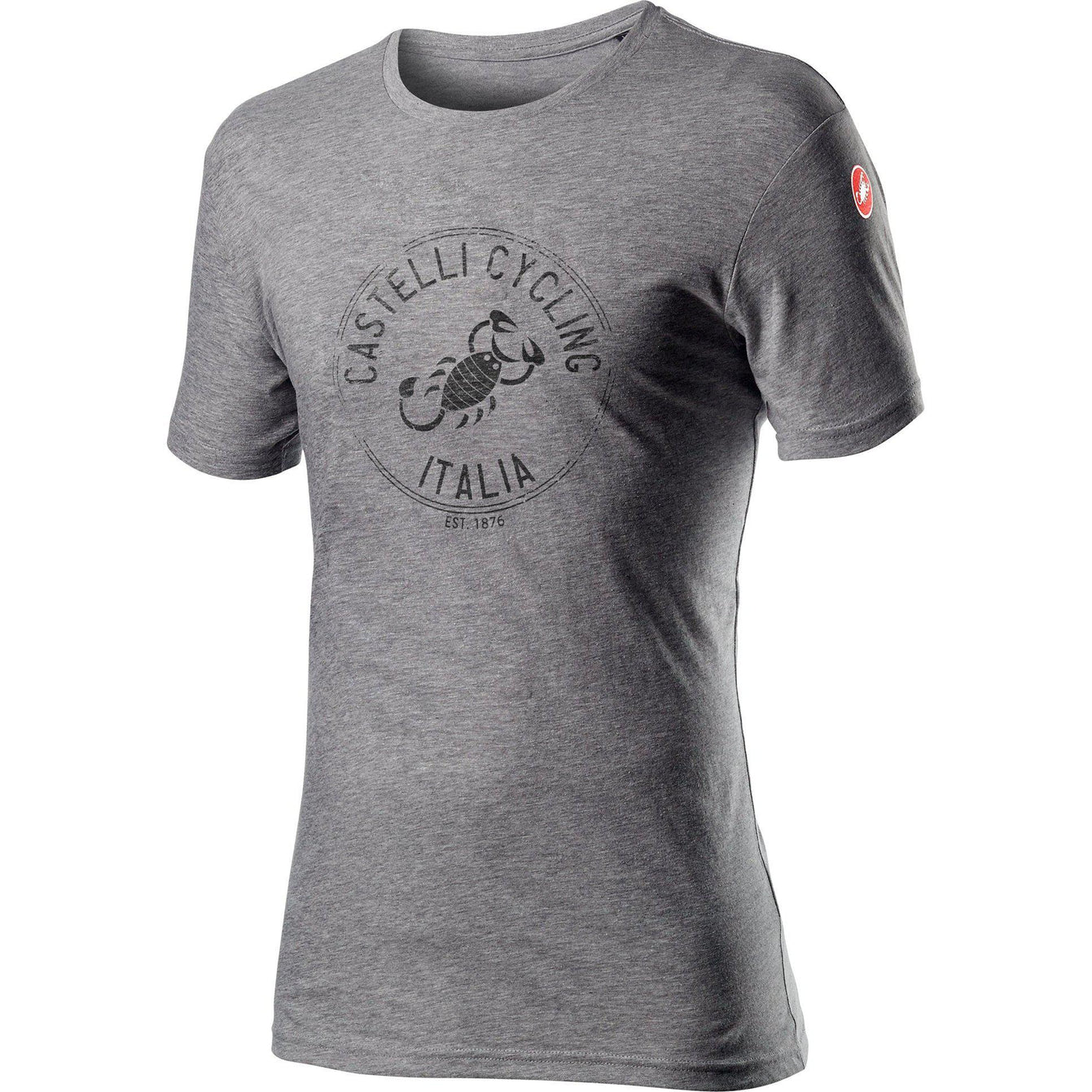 Castelli-Castelli Armando T-shirt-Melange Vortex Grey-XS-CS160658601-saddleback-elite-performance-cycling