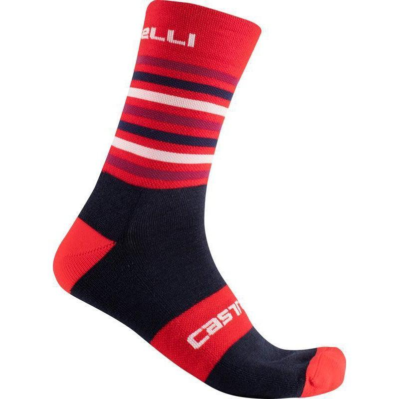 Castelli-Castelli Gregge 15 Socks-Red/Savile Blue-S/M-CS1756002309-saddleback-elite-performance-cycling