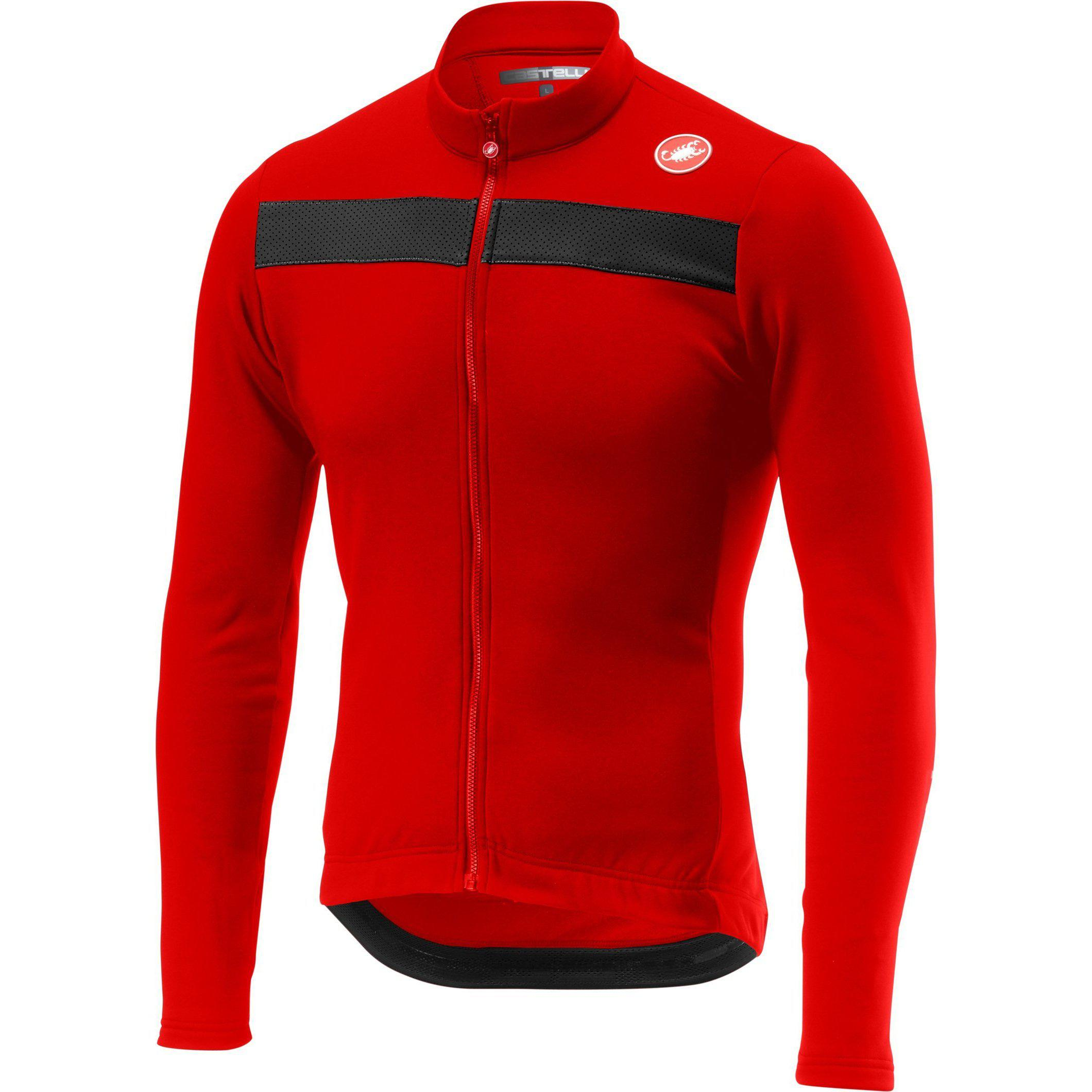 Castelli-Castelli Puro 3 Jersey-Red-XS-CS185110231-saddleback-elite-performance-cycling