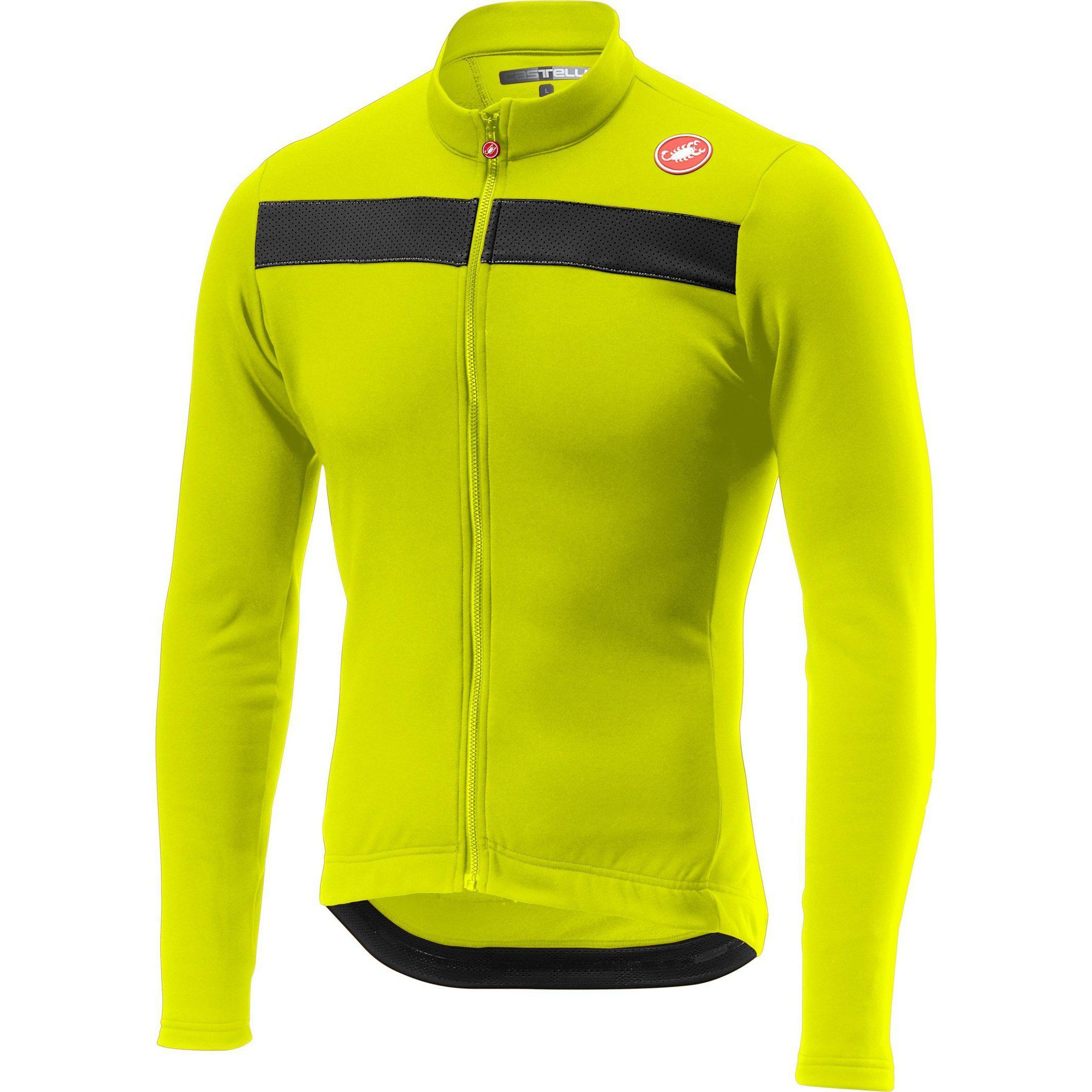 Castelli-Castelli Puro 3 Jersey-Yellow Fluo-XS-CS185110321-saddleback-elite-performance-cycling