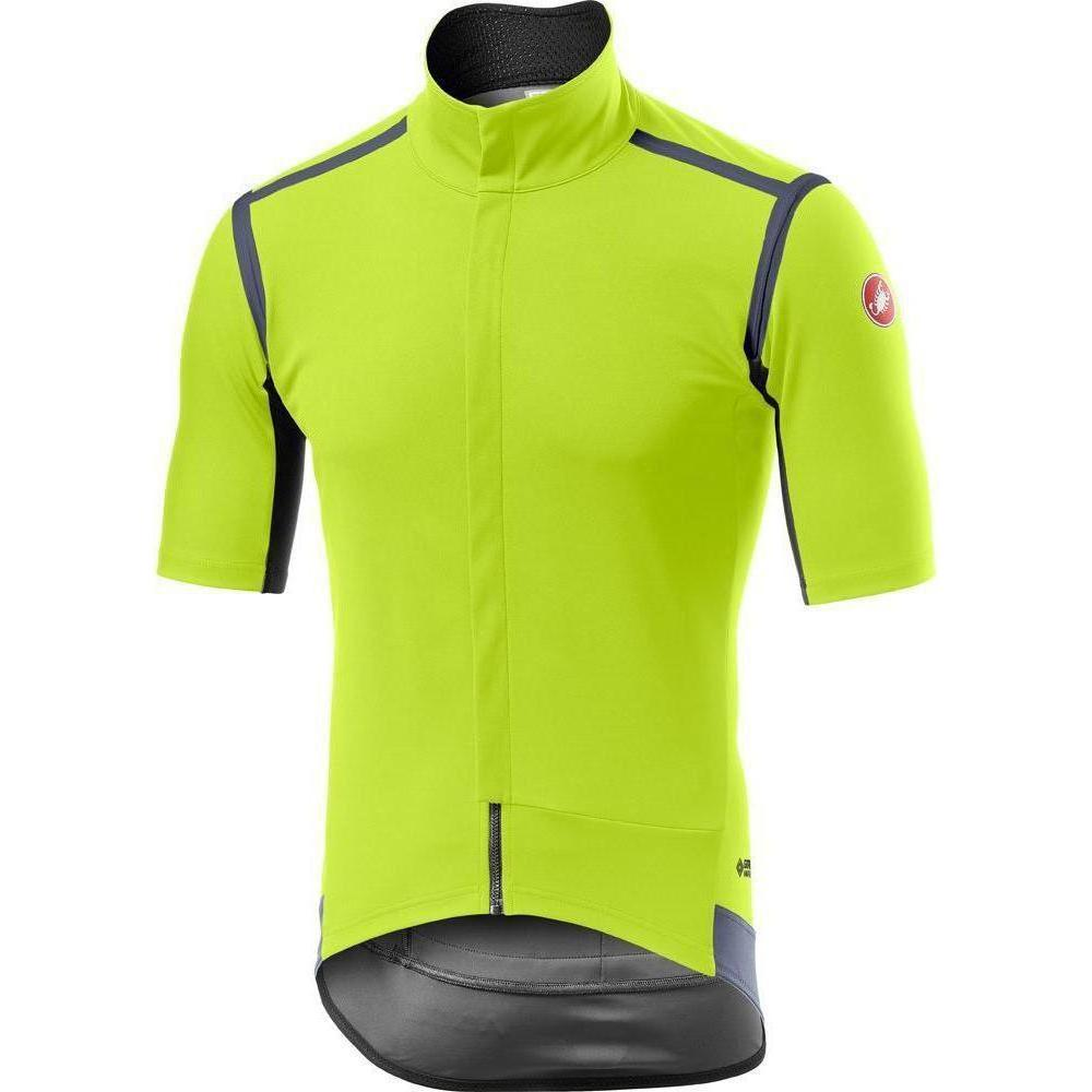 Castelli-Castelli Gabba RoS Short Sleeve Jersey-Yellow Fluo-S-CS195020322-saddleback-elite-performance-cycling