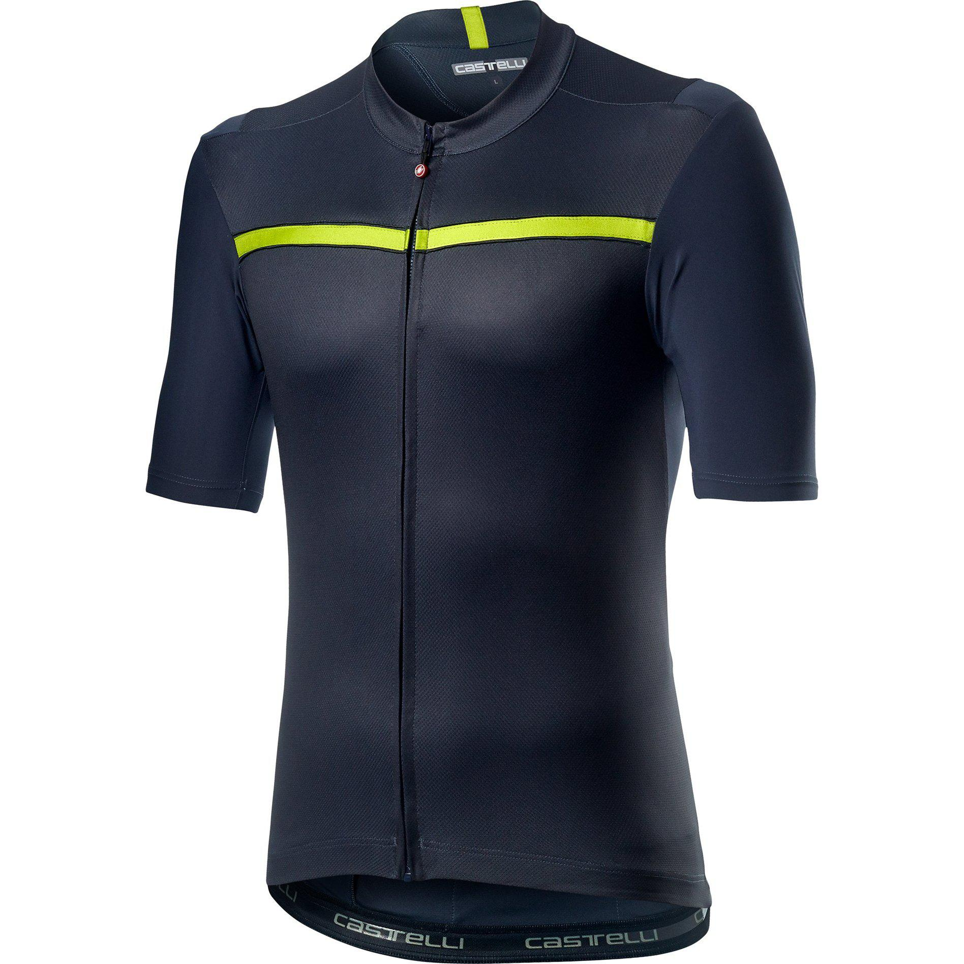 Castelli-Castelli Unlimited Jersey-Dark Steel Blue-XS-CS200230701-saddleback-elite-performance-cycling