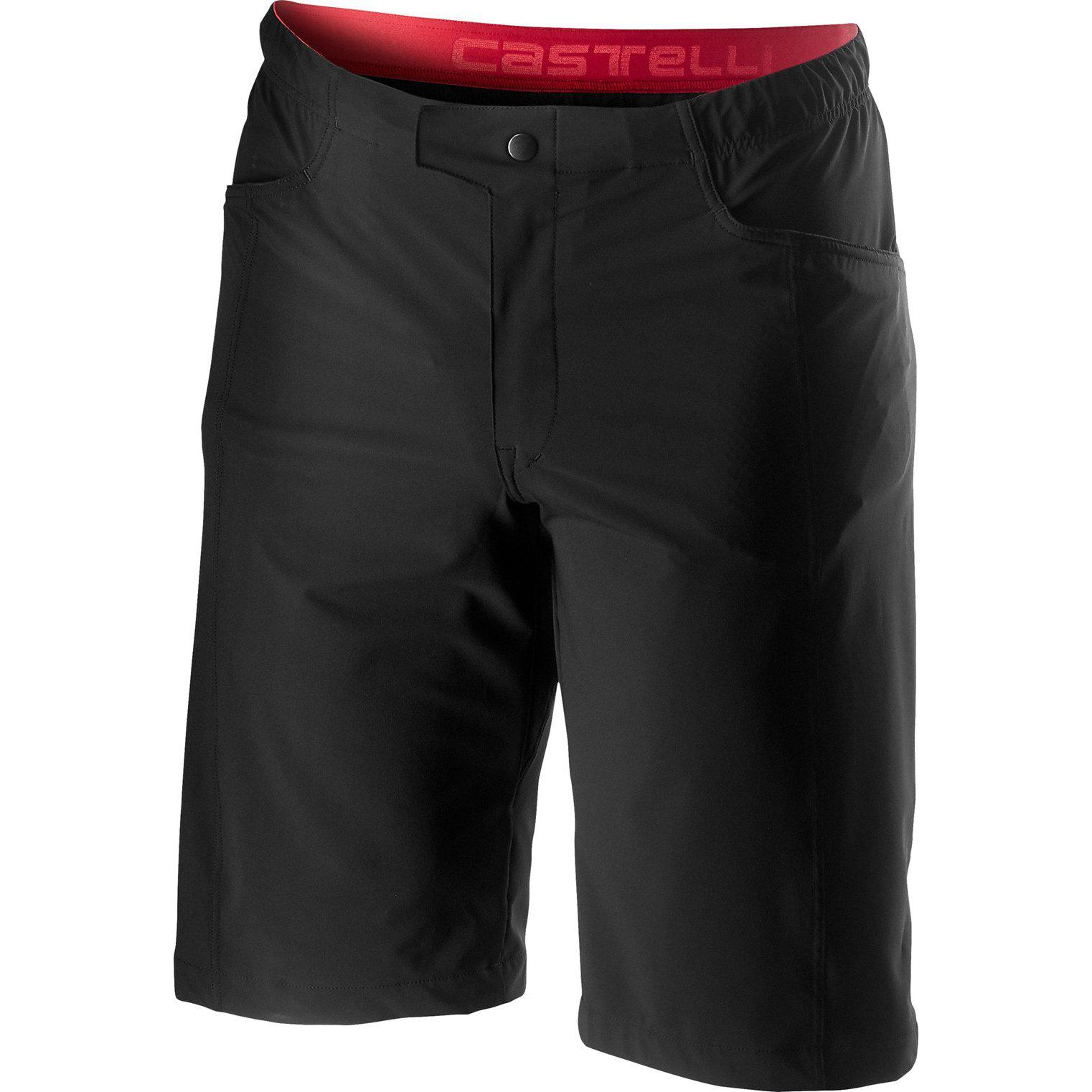 Castelli-Castelli Unlimited Baggy Short-Black-XS-CS200270101-saddleback-elite-performance-cycling