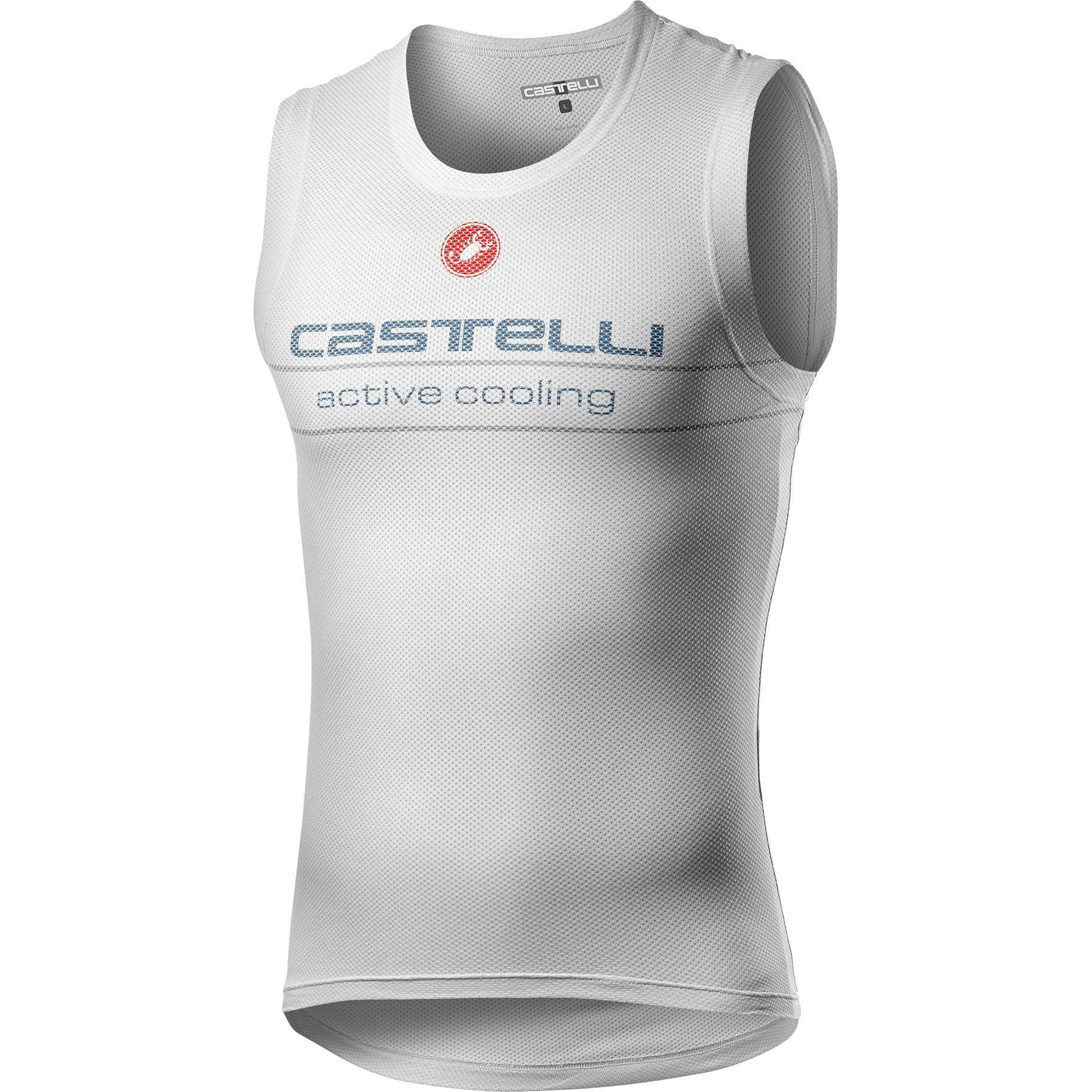 Castelli-Castelli Active Cooling Sleeveless Base Layer-Silver Gray-XS-CS200308701-saddleback-elite-performance-cycling