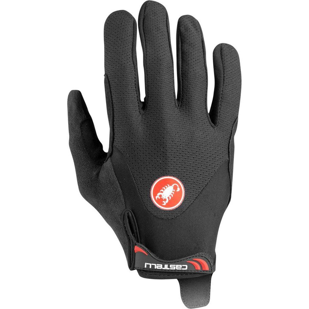 Castelli-Castelli Arenberg Gel Long Finger Gloves-Black-XS-CS200330101-saddleback-elite-performance-cycling