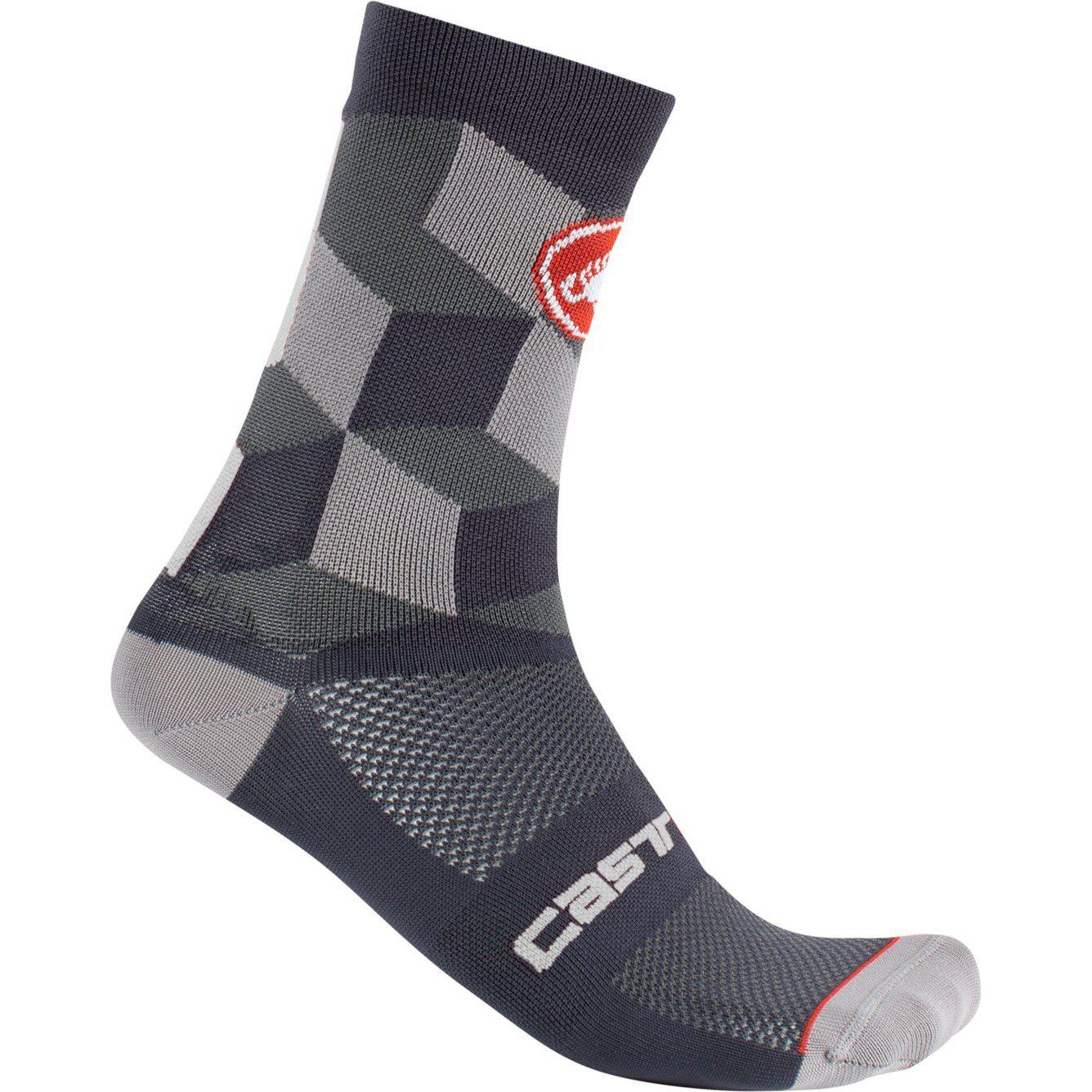 Castelli-Castelli Unlimited 15 Socks-Dark Gray-S/M-CS2004103009-saddleback-elite-performance-cycling