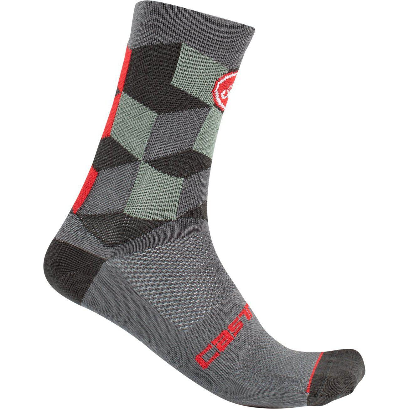 Castelli-Castelli Unlimited 15 Socks-Forest Gray-S/M-CS2004108909-saddleback-elite-performance-cycling