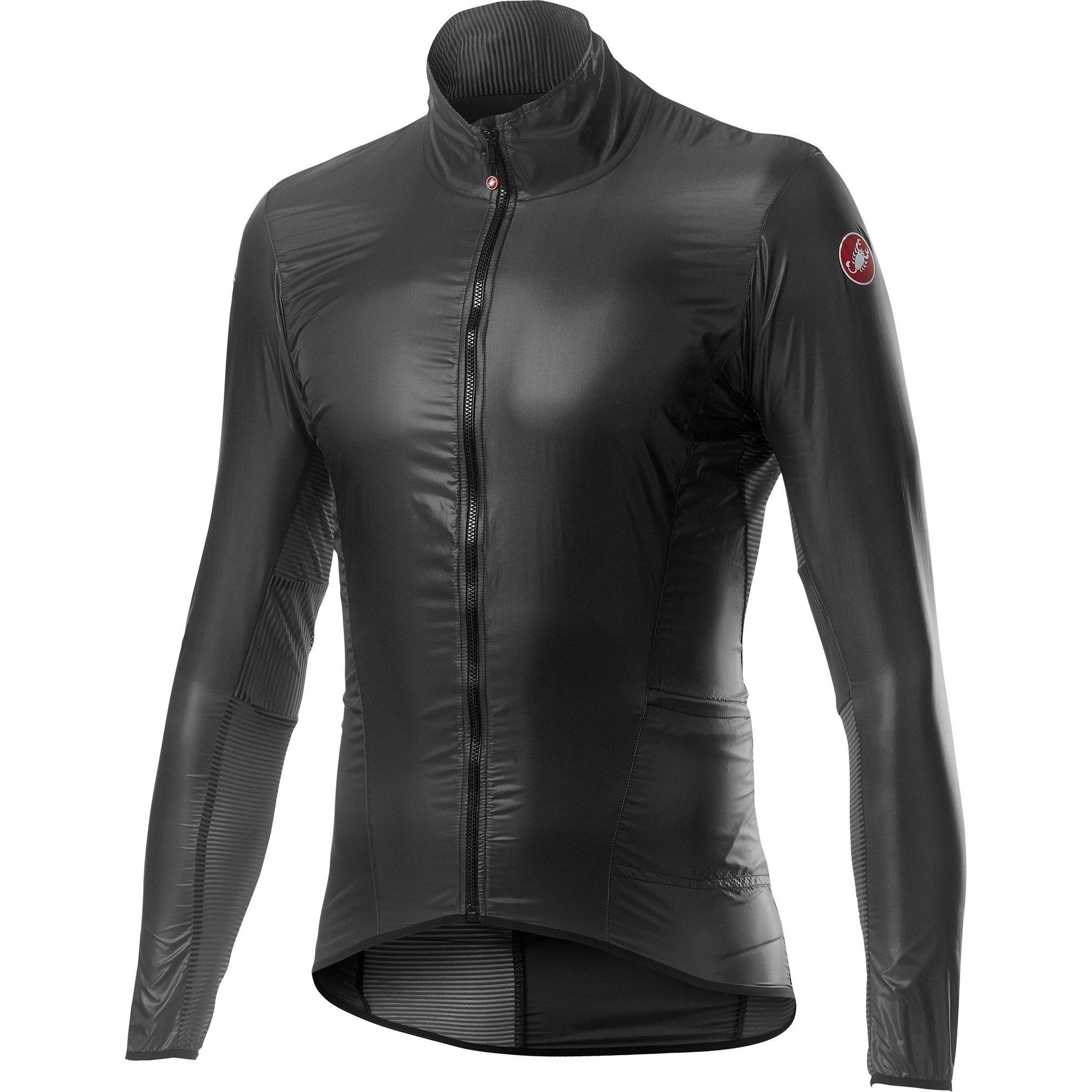 Castelli-Castelli Aria Shell Jacket-Dark Gray-S-CS200580302-saddleback-elite-performance-cycling