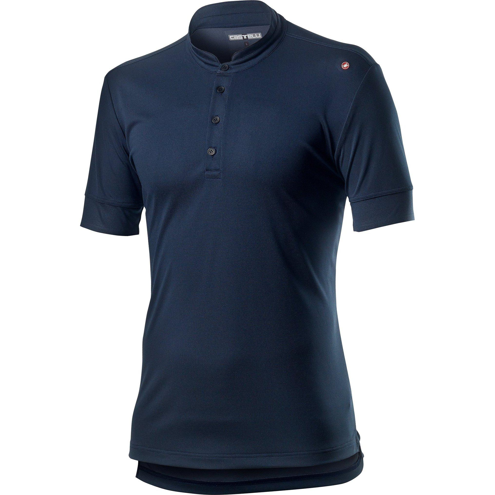 Castelli-Castelli Tech Polo Shirt-Dark Infinity Blue-XS-CS201040411-saddleback-elite-performance-cycling