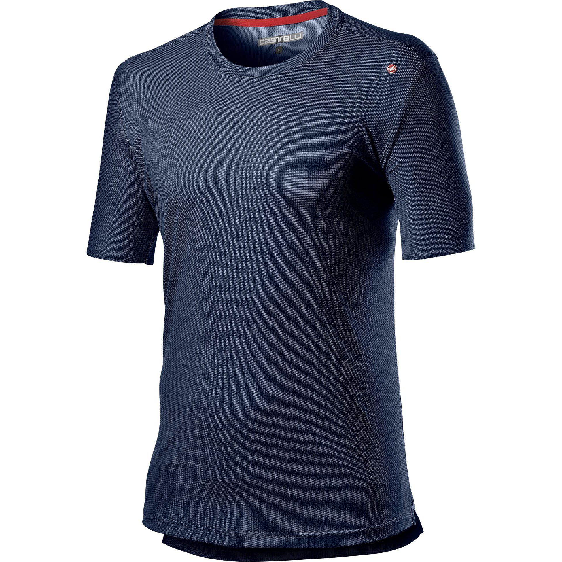 Castelli-Castelli Tech T-Shirt-Dark Infinity Blue-XS-CS201060411-saddleback-elite-performance-cycling