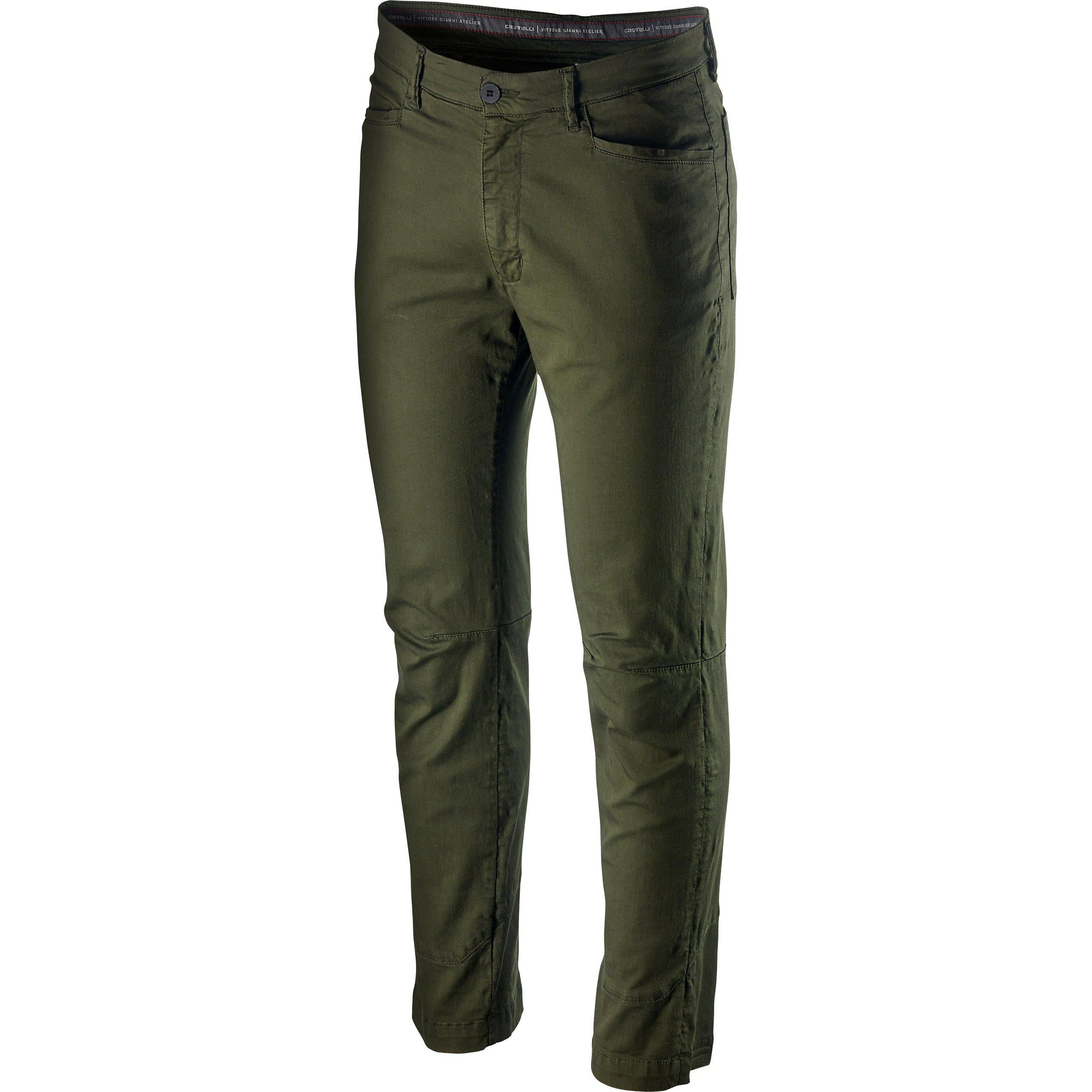 Castelli-Castelli VG 5 Pocket Pant-Military Green-XS-CS201100751-saddleback-elite-performance-cycling