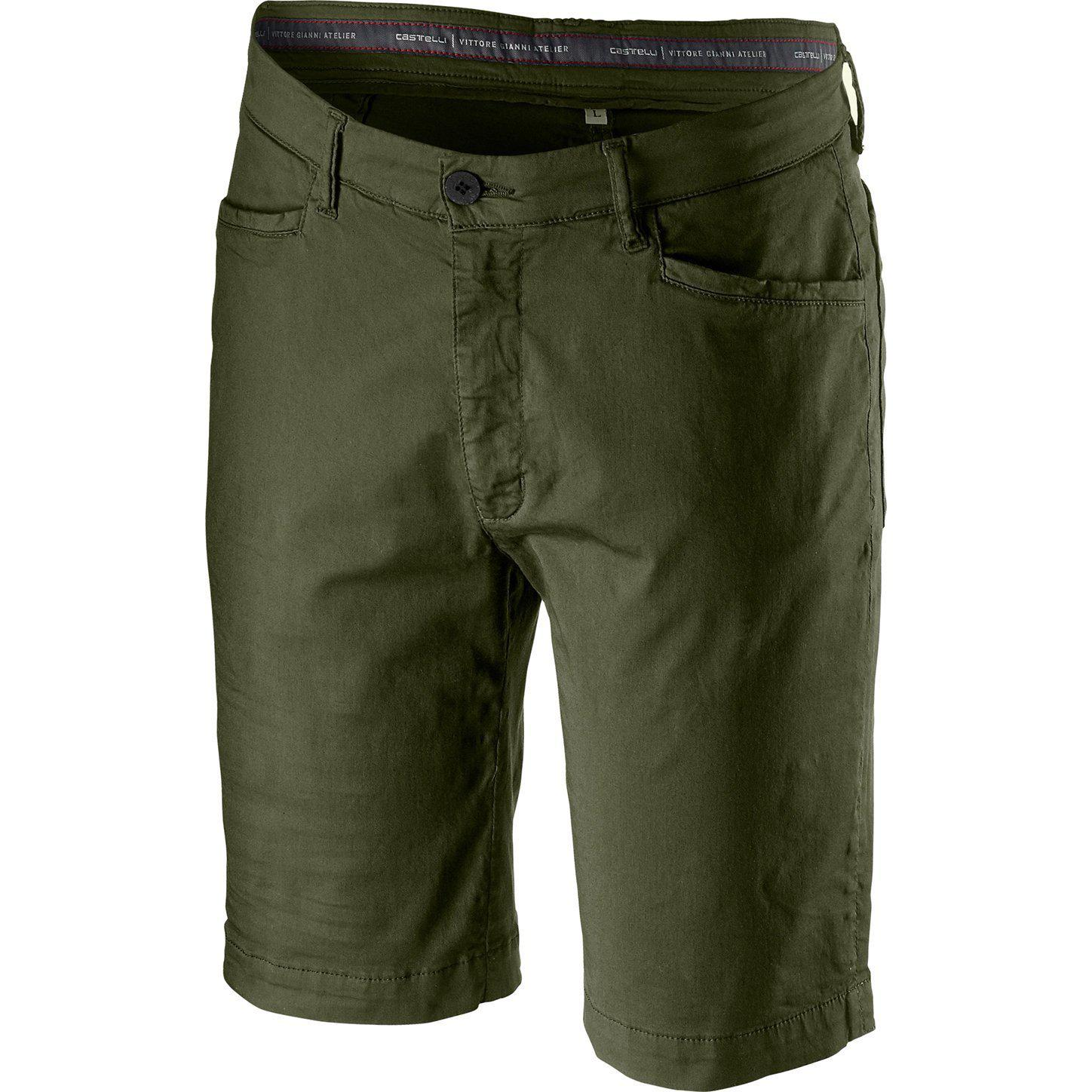 Castelli-Castelli VG 5 Pocket Short-Military Green-XS-CS201110751-saddleback-elite-performance-cycling