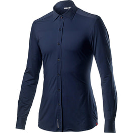 Castelli-Castelli Vg Button Shirt-Dark Infinity Blue-XS-CS201220411-saddleback-elite-performance-cycling