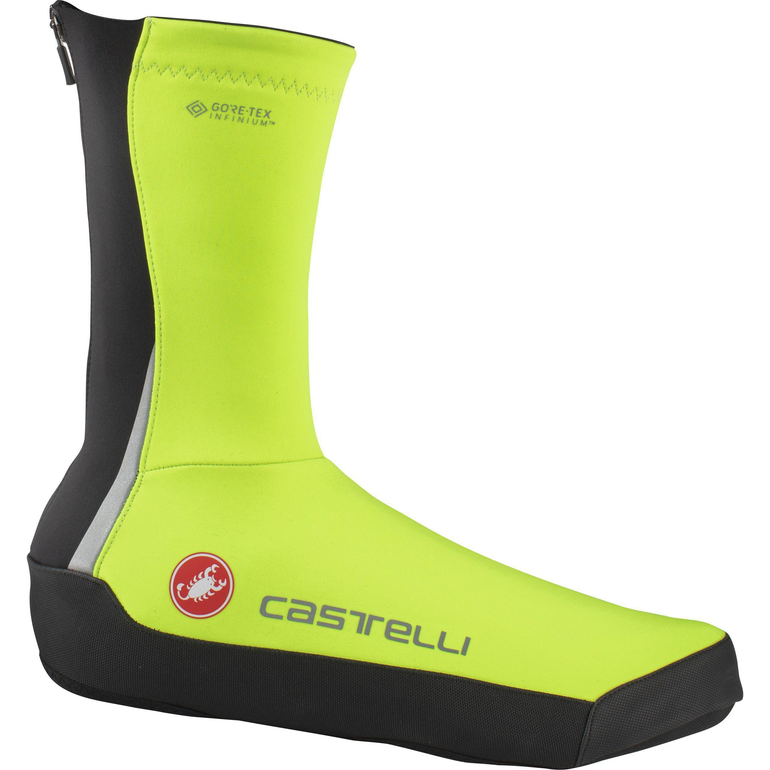 Castelli-Castelli Intenso UL Shoe Covers-Yellow Fluo-S-CS205380322-saddleback-elite-performance-cycling