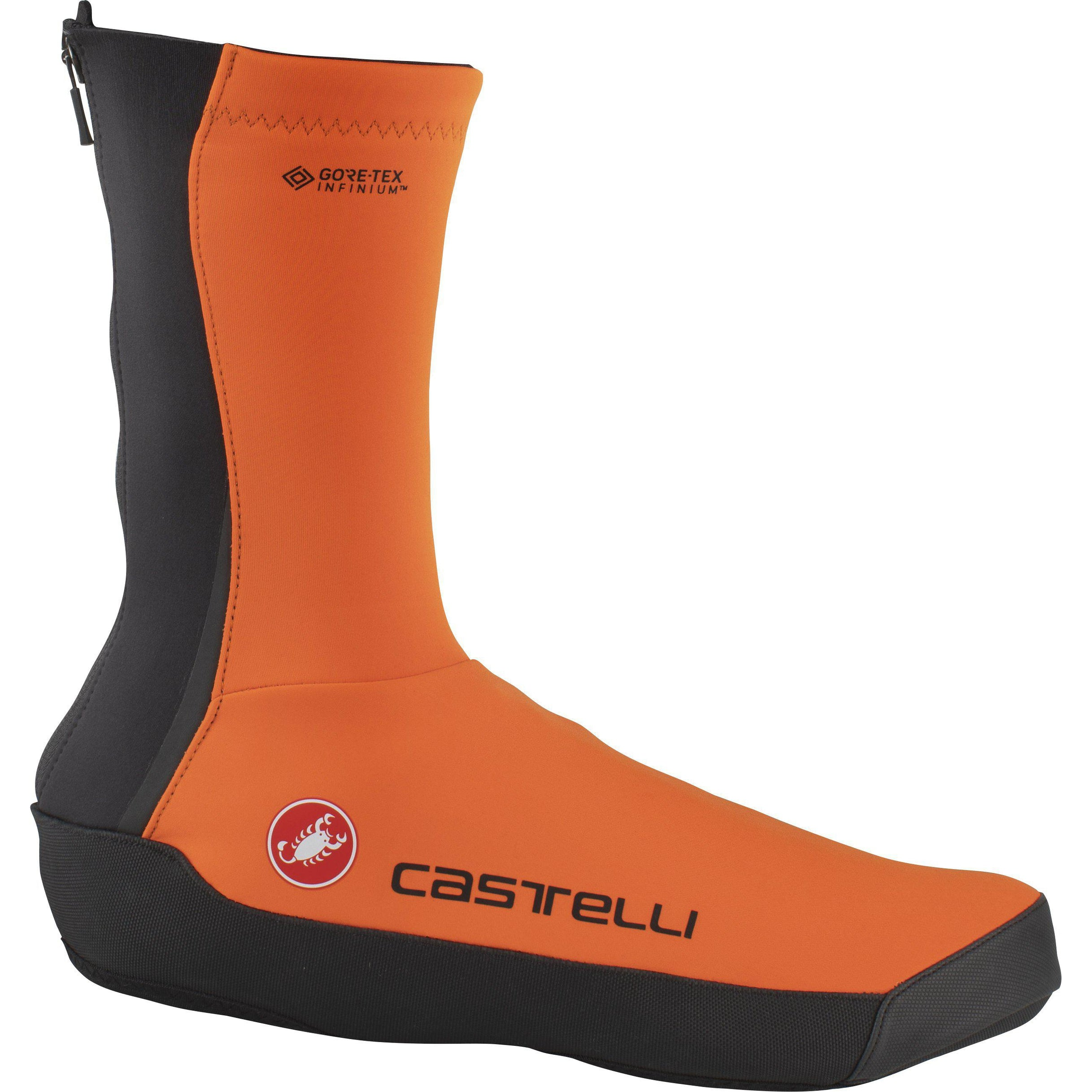 Castelli-Castelli Intenso UL Shoecover-Orange-S-CS205380342-saddleback-elite-performance-cycling