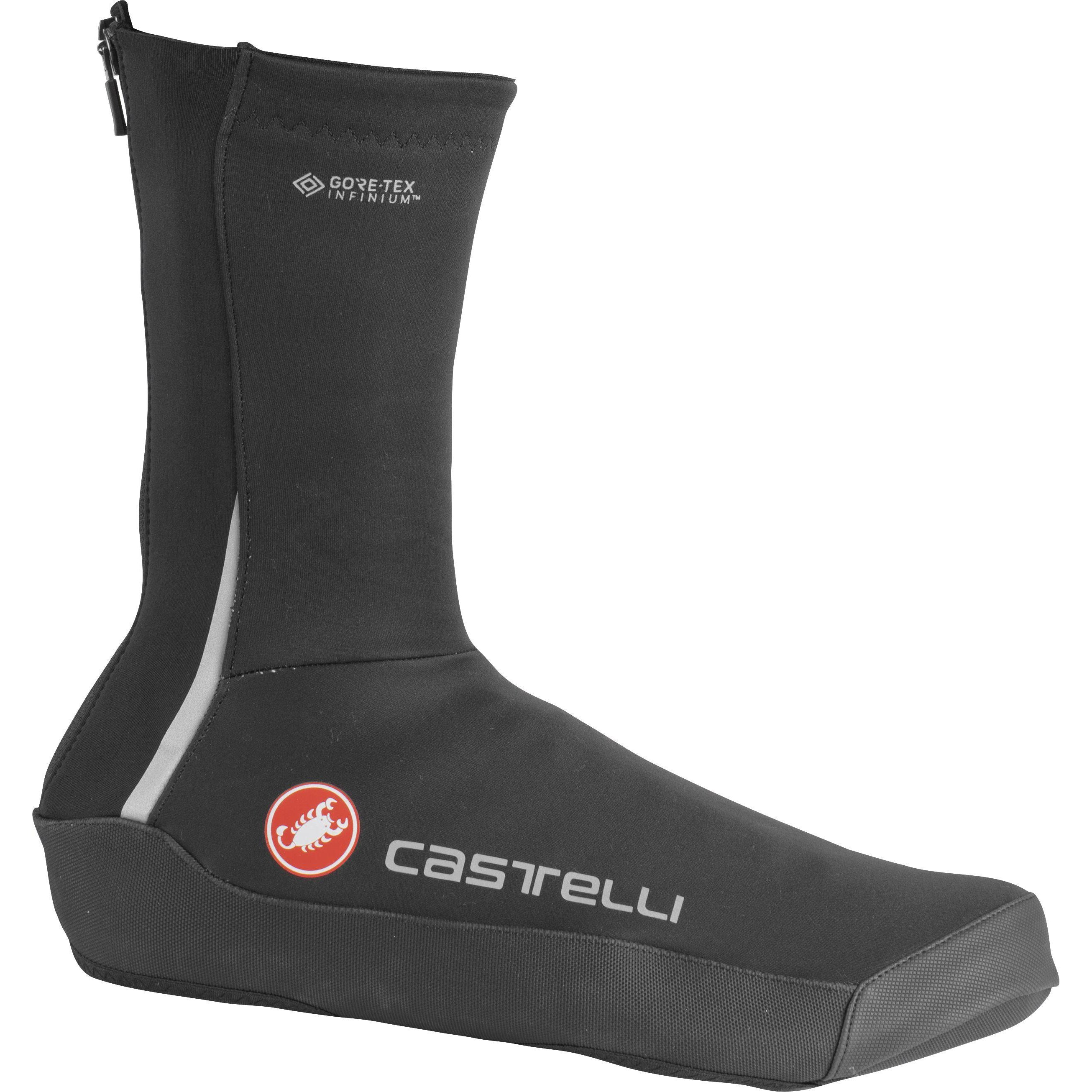Castelli-Castelli Intenso UL Shoe Covers-Light Black-S-CS205380852-saddleback-elite-performance-cycling
