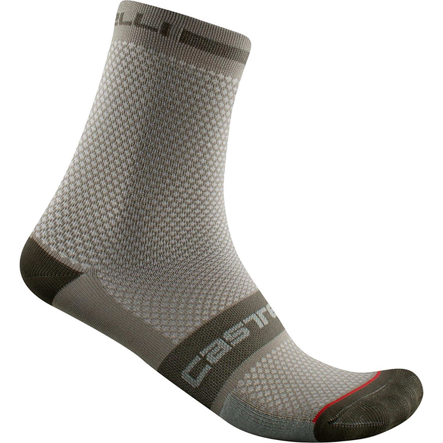 Castelli-Castelli Superleggera T 12 Socks-Bark Green-S/M-CS2103036409-saddleback-elite-performance-cycling