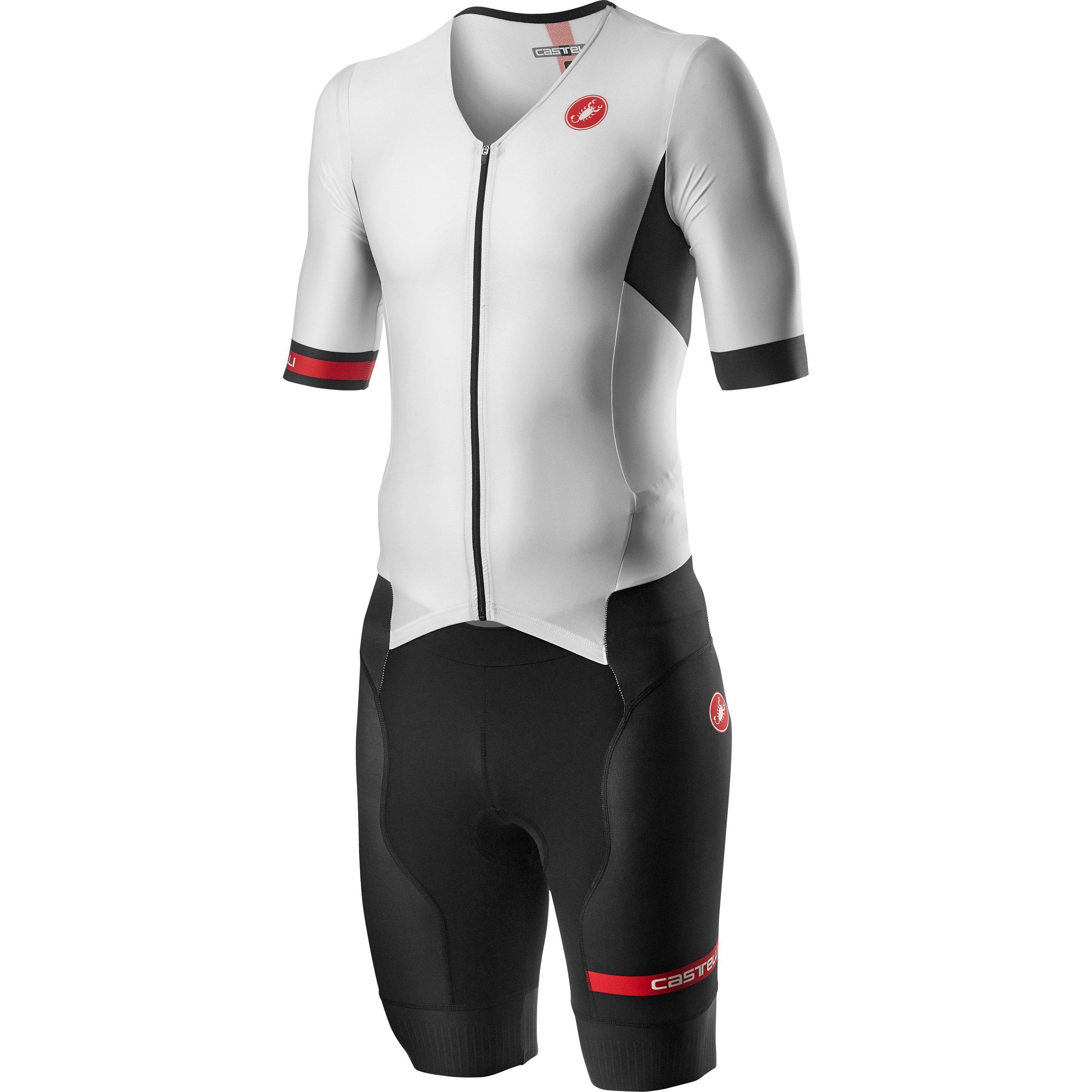 Castelli-Castelli Free Sanremo 2 Suit Short Sleeve-White/Black-S-CS200921012-saddleback-elite-performance-cycling
