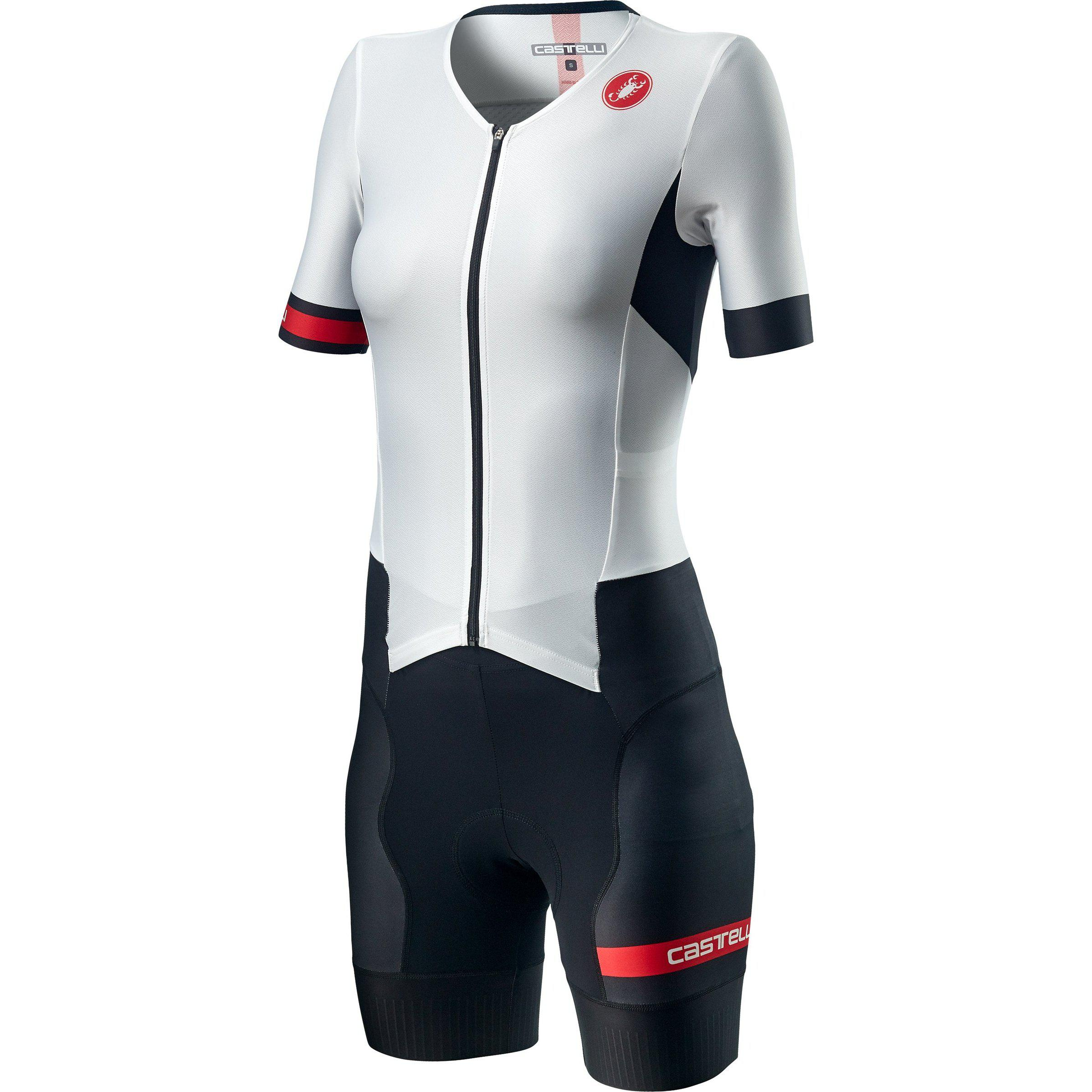 Castelli-Castelli Free Sanremo 2 Women's Suit Short Sleeve-White Black-XS-CS200961011-saddleback-elite-performance-cycling