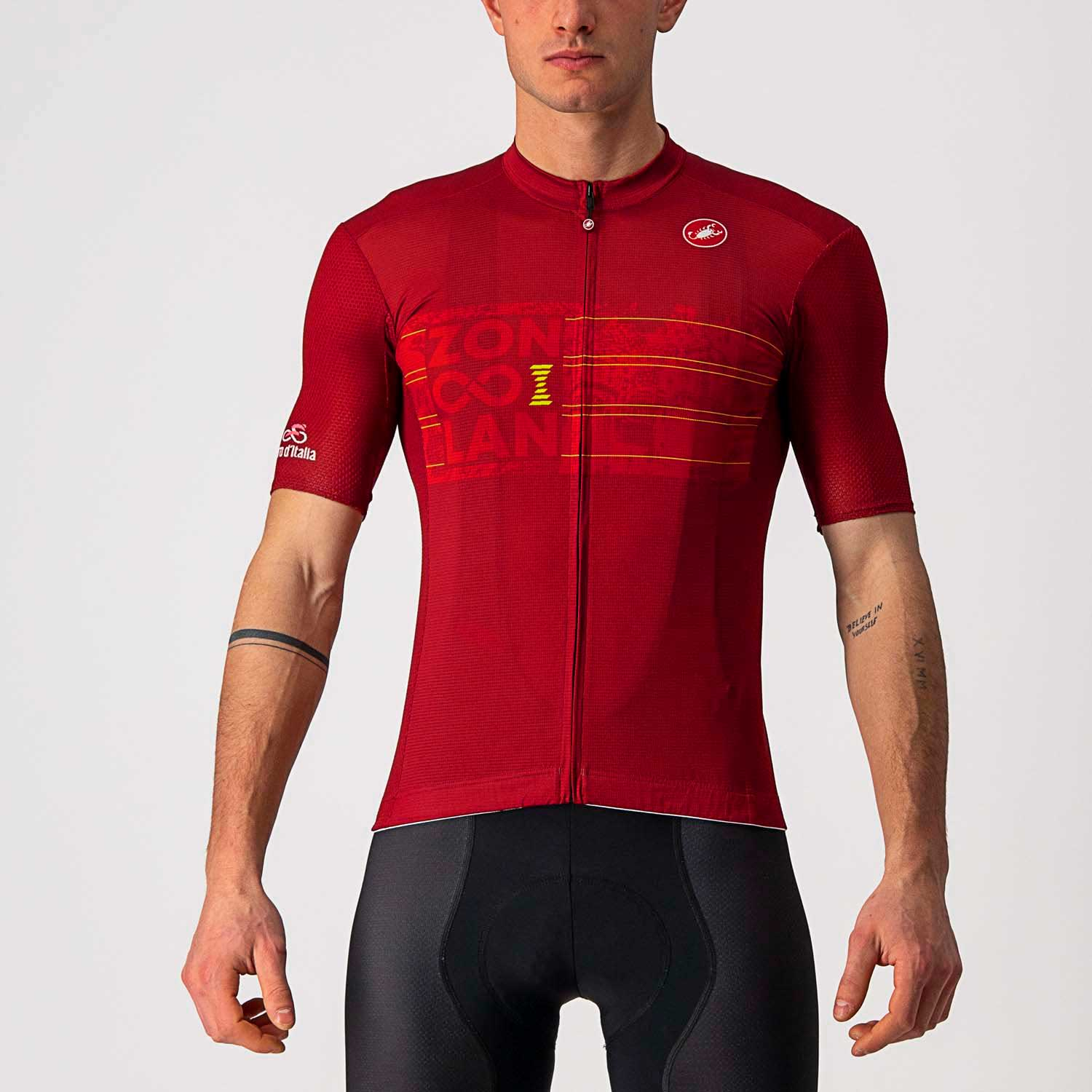 Castelli-Castelli Zoncolan Jersey-Garnet Red/Electric Lime-S-CS95104110402-saddleback-elite-performance-cycling