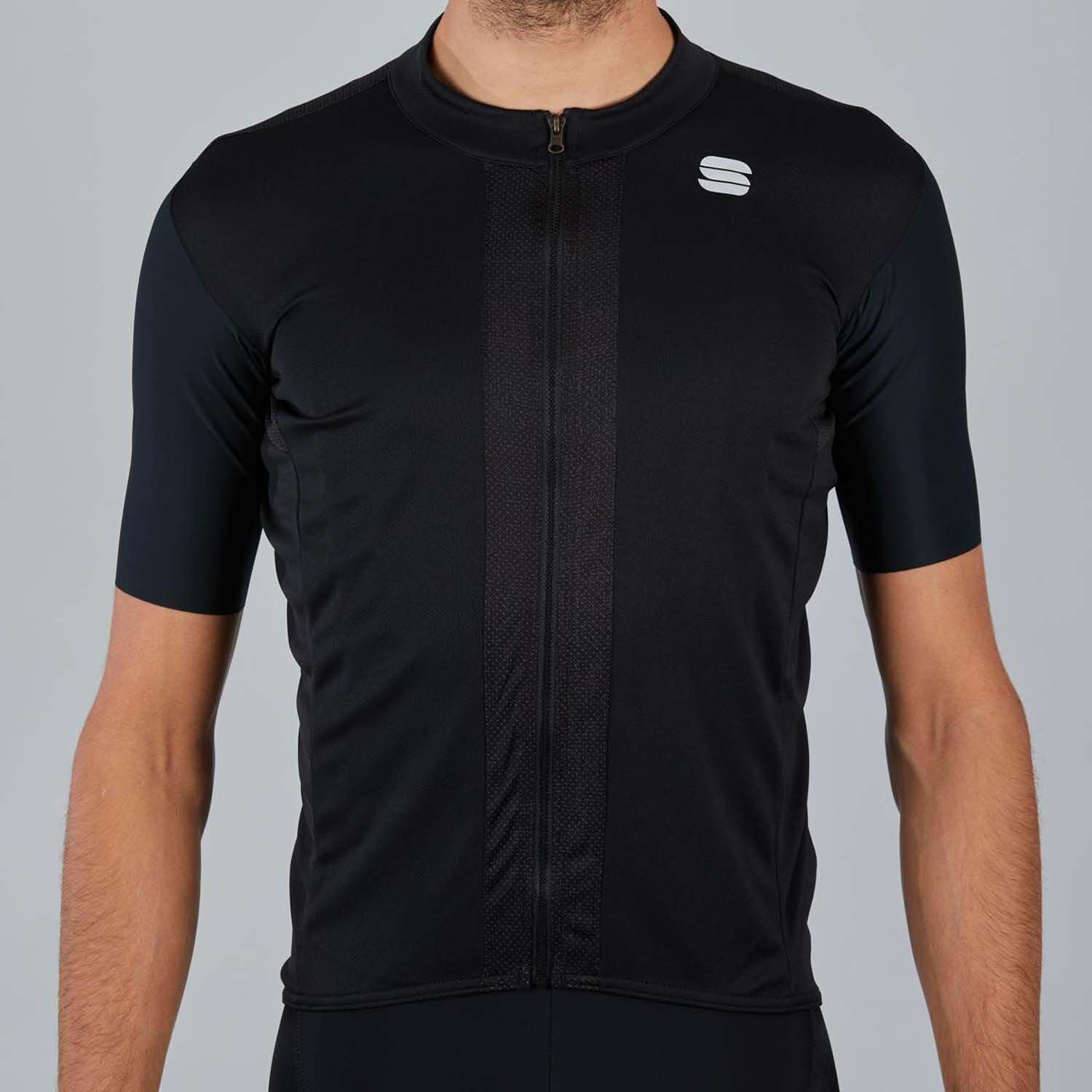 Sportful-Sportful Strike Jersey-Black/White-XS-SF200120021-saddleback-elite-performance-cycling