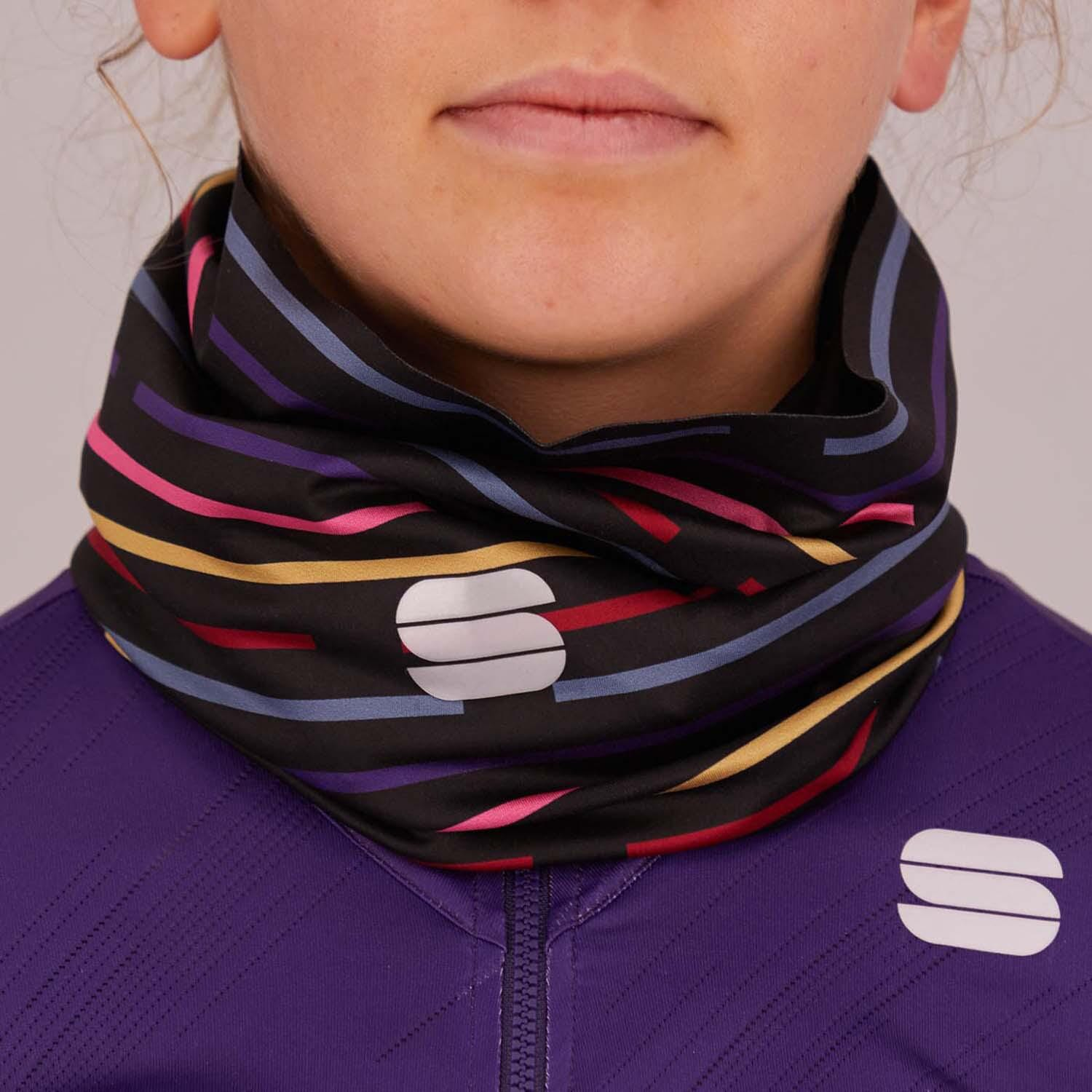Sportful-Sportful Vélodrome Women's Neck Warmer-Black/Multicolor-UNI-SF210660028-saddleback-elite-performance-cycling