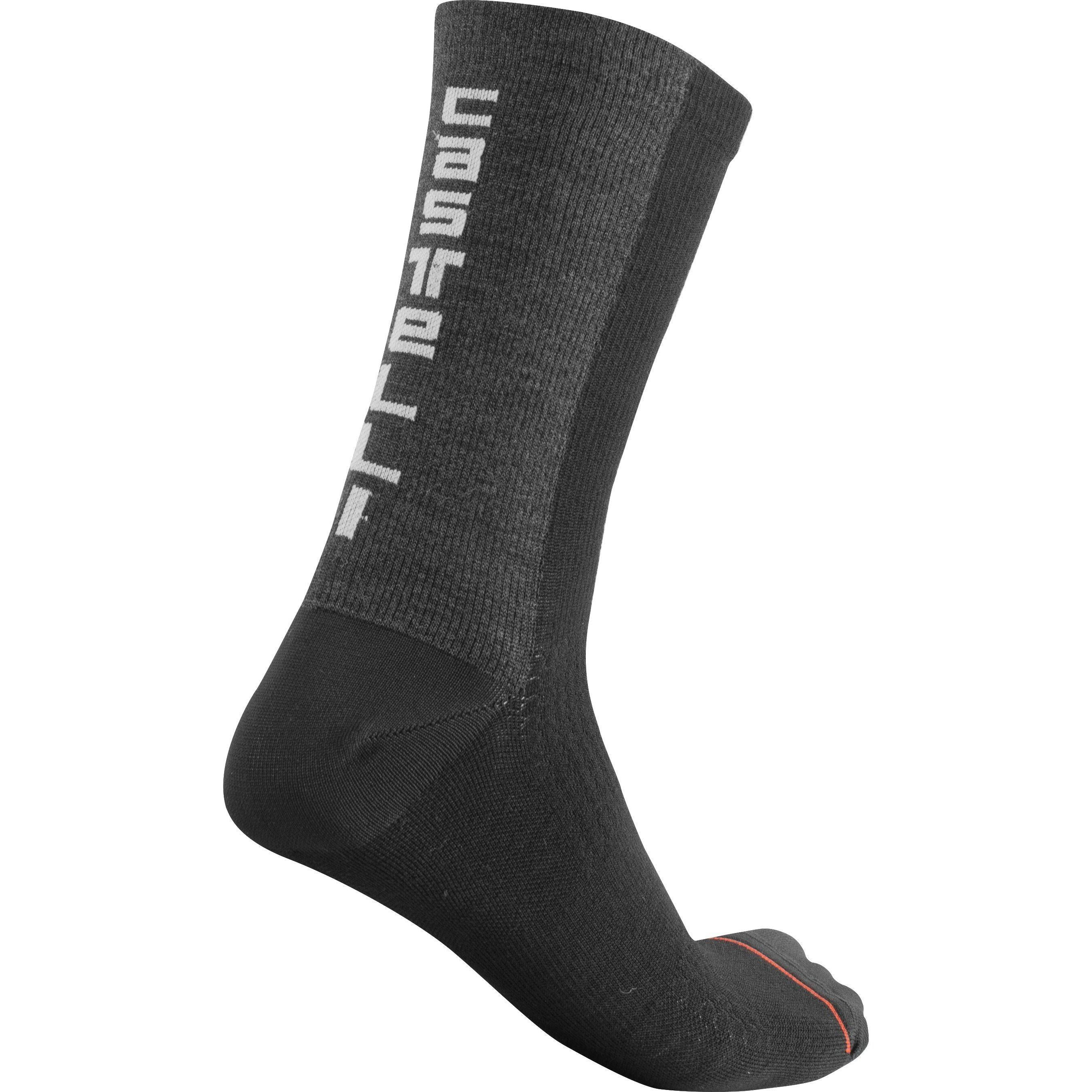 Castelli-Castelli Bandito Wool 18 Socks-Black-S/M-CS2054001009-saddleback-elite-performance-cycling