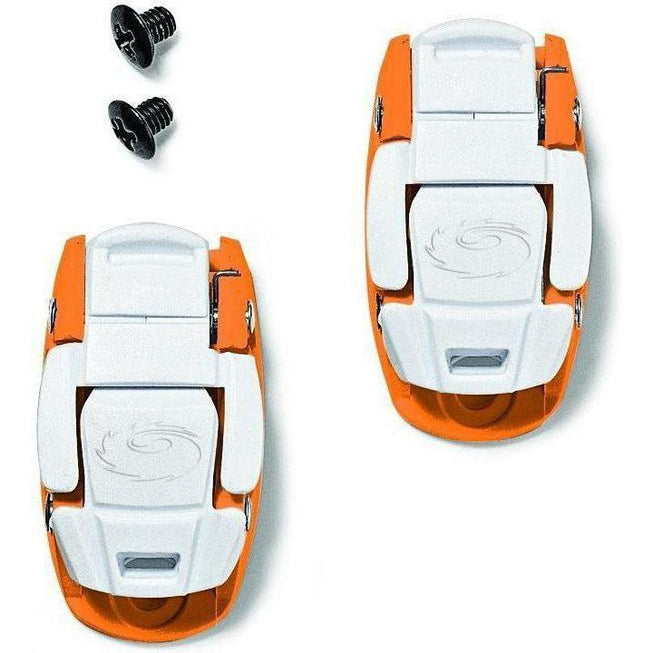 Sidi-Sidi Caliper Buckles-Orange/White-One Pair-SISPRLEVASD06OW-saddleback-elite-performance-cycling