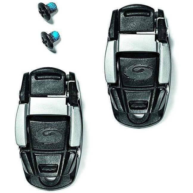 Sidi-Sidi Caliper Buckles-Black/Silver-One Pair-SISPRLEVASD06BS-saddleback-elite-performance-cycling