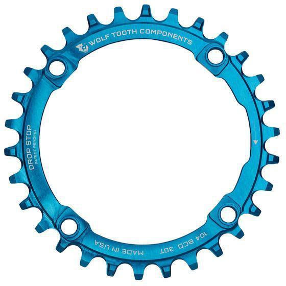 Wolf Tooth-Wolf Tooth 104 BCD Chainring-Blue-30t-WTBLU10430-saddleback-elite-performance-cycling