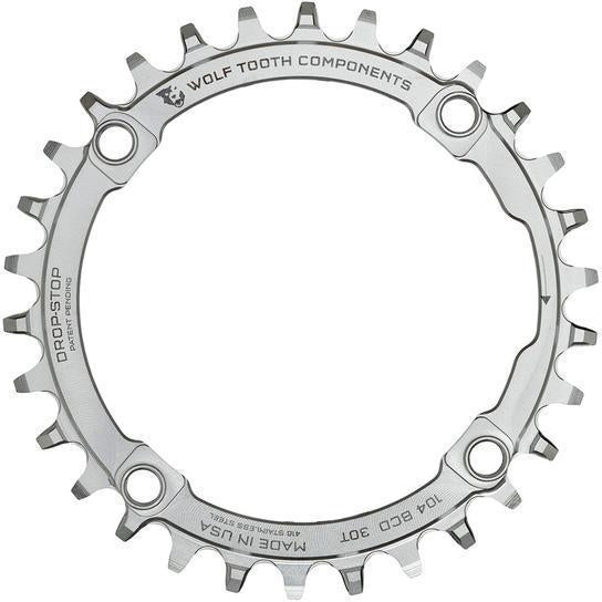 Wolf Tooth-Wolf Tooth 104 BCD Stainless Steel Chainring-Stainless Steel-30t-WTSST10430-saddleback-elite-performance-cycling