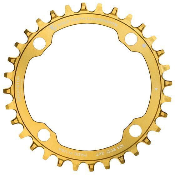 Wolf Tooth-Wolf Tooth 104 BCD Chainring-32t-Gold-WTGOLD10432-saddleback-elite-performance-cycling