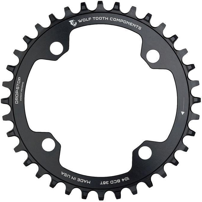 Wolf Tooth-Wolf Tooth 104 BCD Chainring for Shimano 12 speed-Black-32T-WT10432SH12-saddleback-elite-performance-cycling