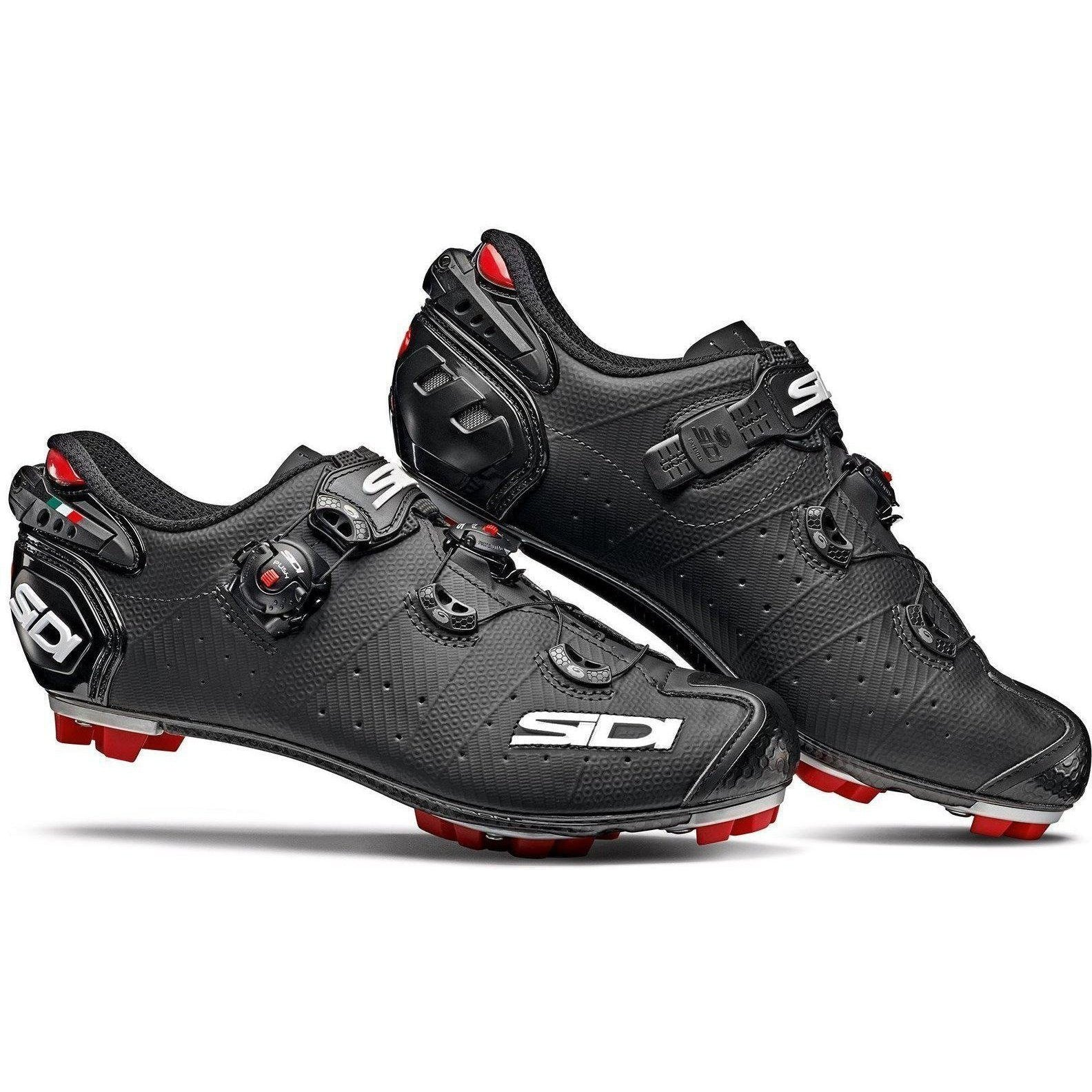 Sidi-Sidi Drako 2 SRS MTB Shoes - Matt-Matt Black-38-SIDRAKO2MATNEOP38-saddleback-elite-performance-cycling
