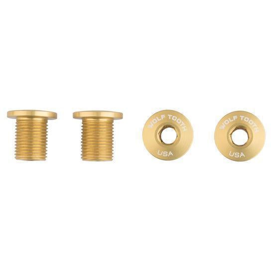 Wolf Tooth-Wolf Tooth Chainring Bolts - Set of 4 for 1X-Gold-Uni-WT4CB10GLD-saddleback-elite-performance-cycling
