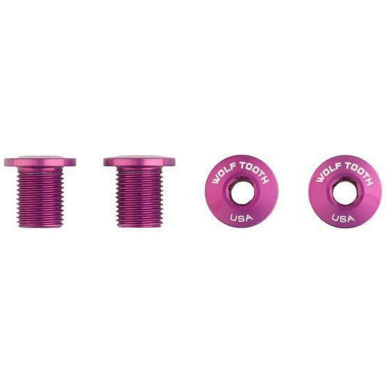 Wolf Tooth-Wolf Tooth Chainring Bolts - Set of 4 for 1X-10mm-Purple-WT4CB10PRP-saddleback-elite-performance-cycling