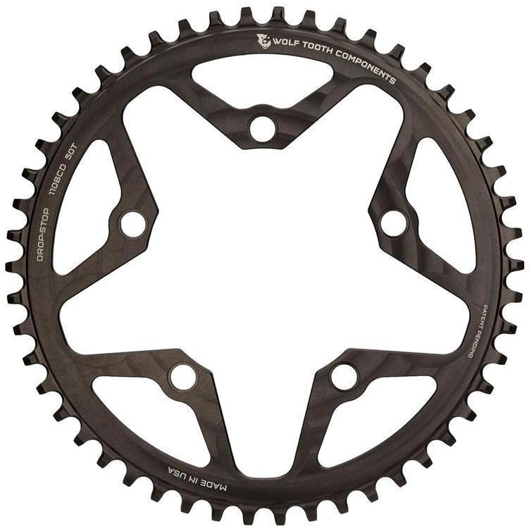 Wolf Tooth-Wolf Tooth 110 BCD Cyclocross and Road Flattop Chainring-Black-34t-WT11034FT-saddleback-elite-performance-cycling