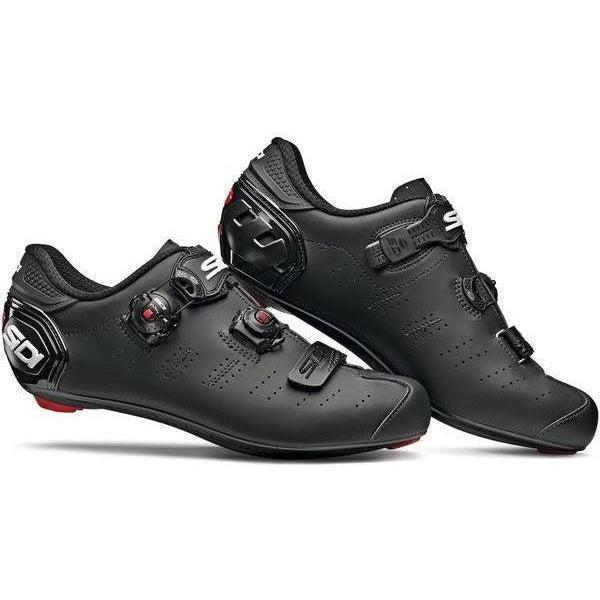 Sidi-Sidi Ergo 5 Mega Fit Road Shoes-Matt Black-40-SIERGO5MMATNEOP40-saddleback-elite-performance-cycling