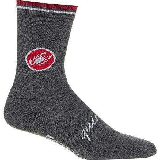 Castelli-Castelli Quindici Soft Socks-Anthracite-S/M-CS1154200909-saddleback-elite-performance-cycling