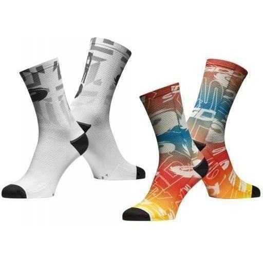Sidi-Sidi Fun 17 Socks-S/M - 36/40-White/Grey-SIPCAFUN17A3640-saddleback-elite-performance-cycling
