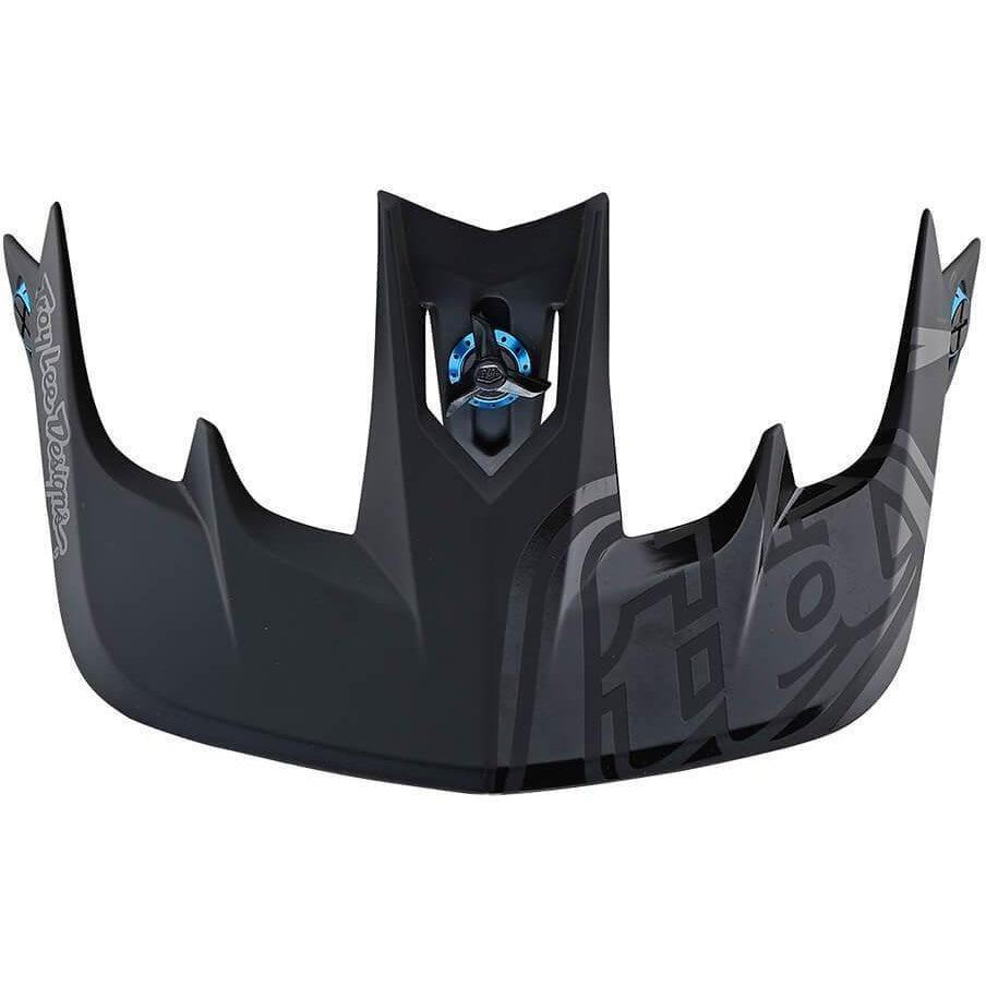 Troy Lee Designs-Troy Lee Designs Stage Helmet Visor-Pinstripe - Black/Cyan-Uni-TLD119018000-saddleback-elite-performance-cycling