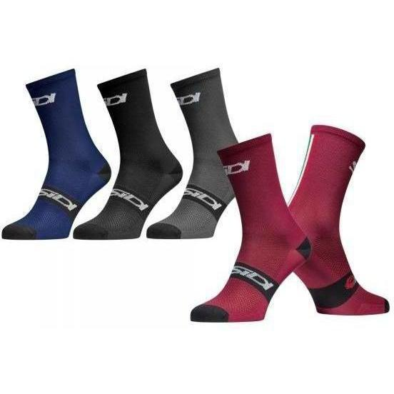 Sidi-Sidi Trace Socks-S/M - 40/43-Black-SIPCALTRACEA4043-saddleback-elite-performance-cycling