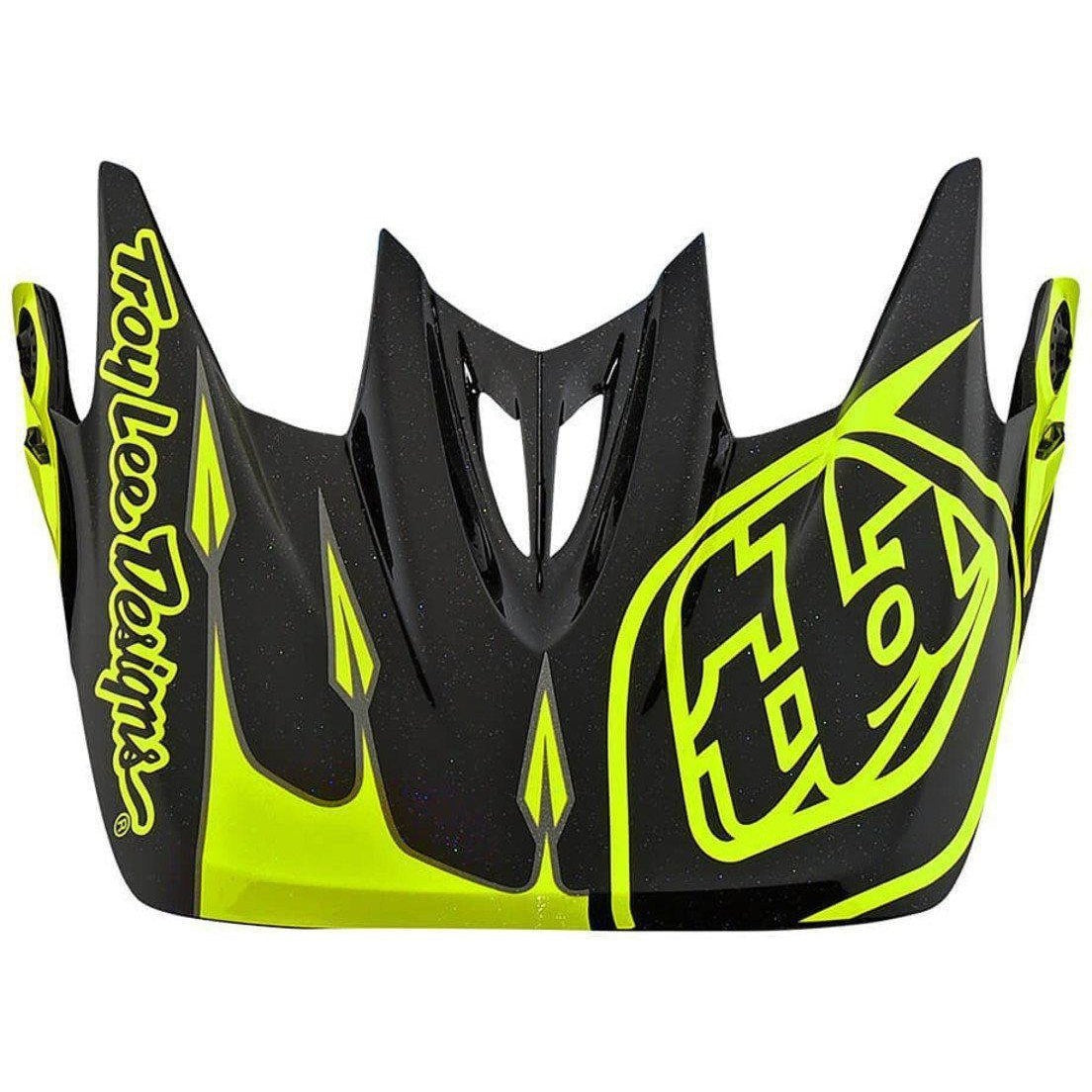 Troy Lee Designs-Troy Lee Designs D3 Helmet Replacement Visor-CORONA FLO YELLOW-D3 Composite-TLD157581500-saddleback-elite-performance-cycling