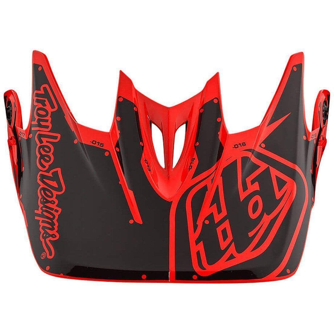Troy Lee Designs-Troy Lee Designs D3 Helmet Replacement Visor-FACTORY ORANGE-D3 Fiberlite-TLD157008700-saddleback-elite-performance-cycling