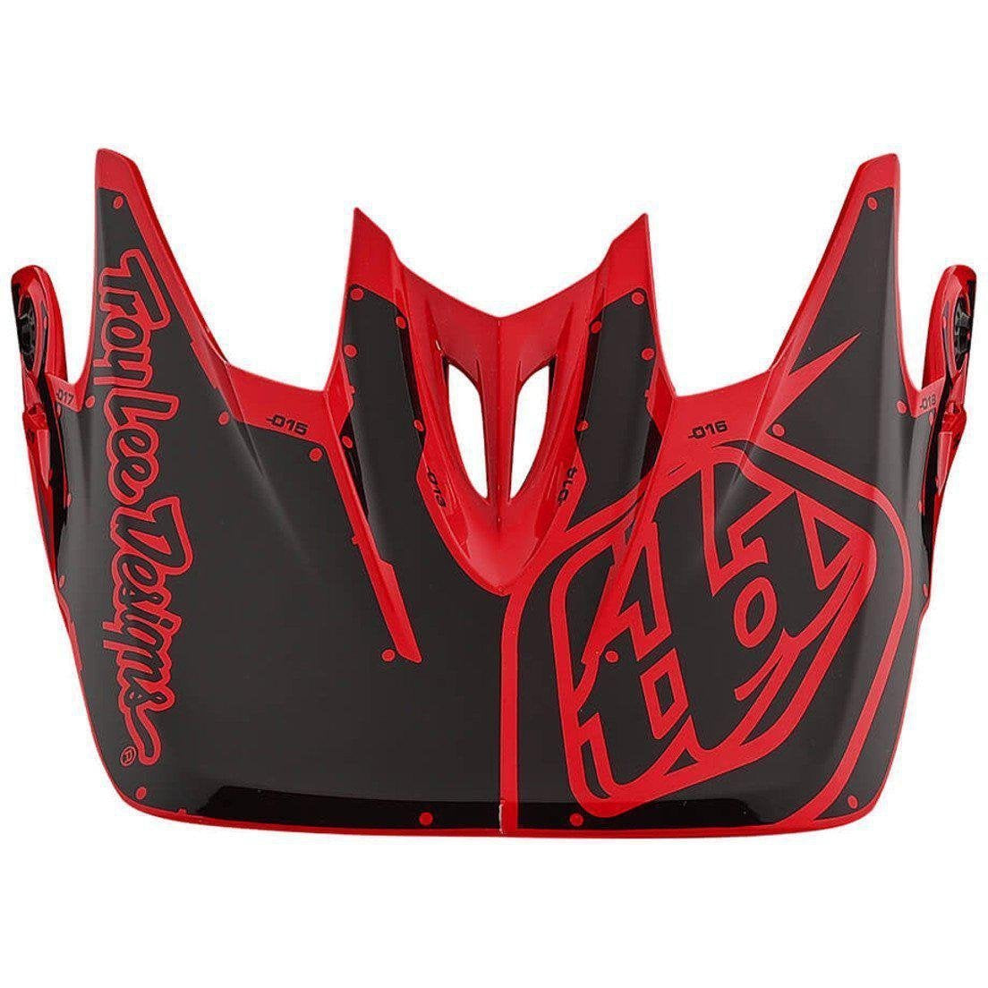 Troy Lee Designs-Troy Lee Designs D3 Helmet Replacement Visor-FACTORY RED-D3 Fiberlite-TLD157008400-saddleback-elite-performance-cycling