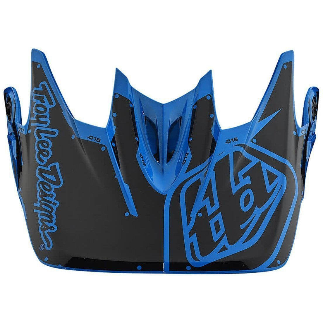 Troy Lee Designs-Troy Lee Designs D3 Helmet Replacement Visor-FACTORY OCEAN-D3 Fiberlite-TLD157008300-saddleback-elite-performance-cycling